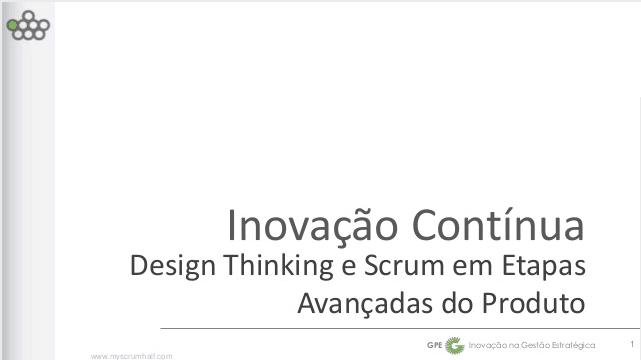 (Português) Design Thinking e Scrum no Scrum Gathering Rio 2014