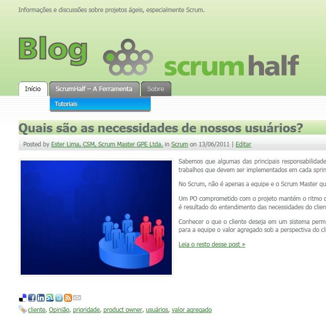 Tutoriais no Blog do ScrumHalf