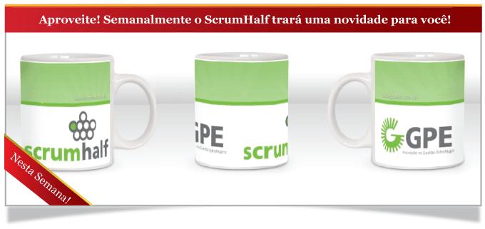 Promoção: Ganhe uma caneca do ScrumHalf de forma simples e ágil