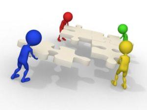 3d Businessmen Connecting Puzzles - copyright David Castillo Dominici
