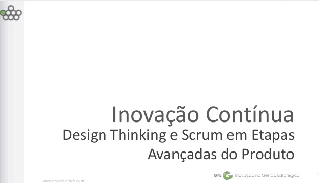 (Português) Design Thinking e Scrum no Scrum Gathering Rio 2014