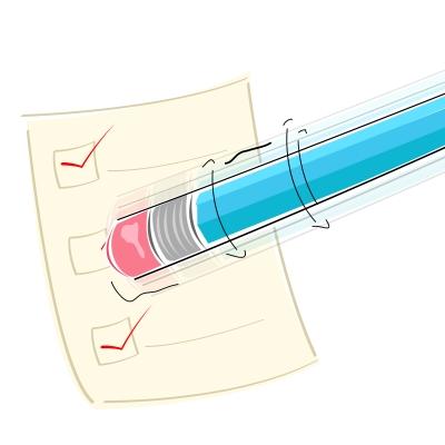 Eraser On Pencil - copyright digitalart